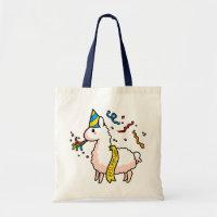 Happy New Year Llama Tote Bag