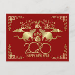 Happy New Year of The Rat - 2020 Holiday Postcard
