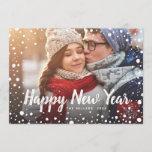 Happy New Year Snow Holiday Greeting Photo
