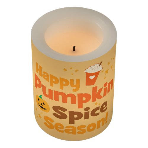 Happy Pumpkin Spice Season Flameless Candle