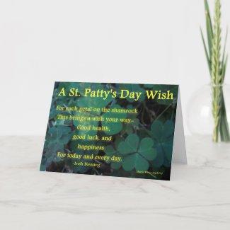 Happy St. Patty's Day - Shamrock (1) - Card card