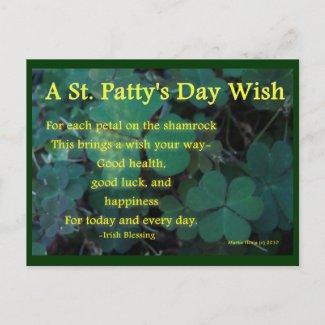 Happy St. Patty's Day - Shamrock (1) - Postcard postcard