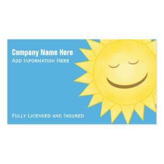 Happy Sun: Business Cards