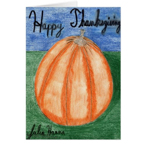 Happy Thanksgiving Pumpkin Card card