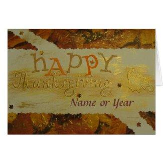 Happy Thanksgiving - Scrapbook - Seasons Card