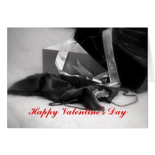 Happy Valentine's Day Black Lingerie card
