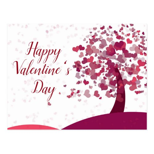 Happy Valentine's Day Heart Tree Postcard