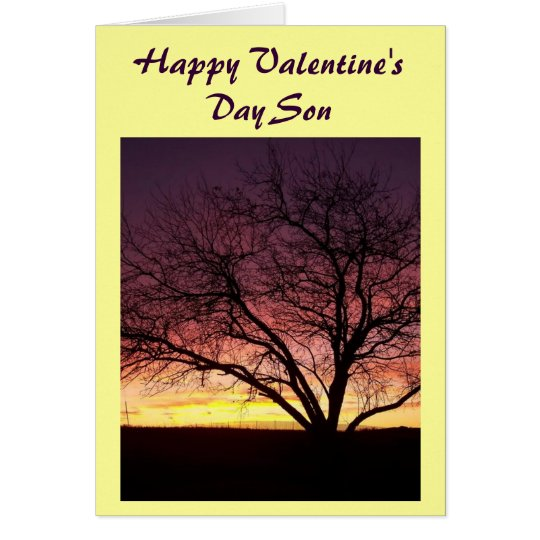 Happy Valentines Day Son Greeting Card