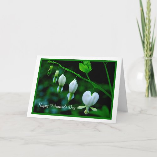 Happy Valentine's Day white Hearts card