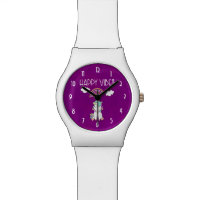 Happy Vibes Cute Smiling Unicorn Watch