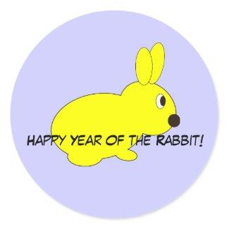 Happy Year of the Rabbit! sticker
