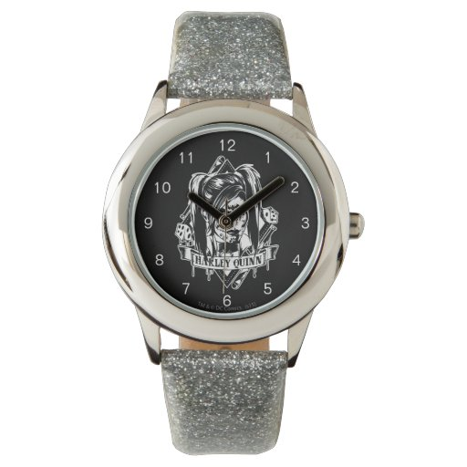Harley Quinn Badge Watch | Zazzle