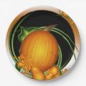 Harvest Pumpkin 9 Inch Paper Plate