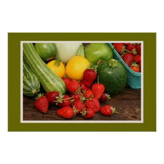 Harvest Summer Vegetables Print print