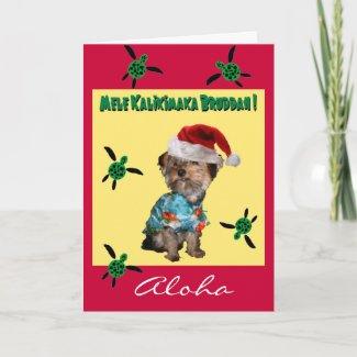 Hawaiian Style Holiday Card