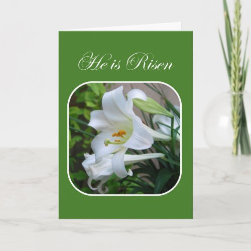He is Risen, Easter Blessings, White Lily Cards