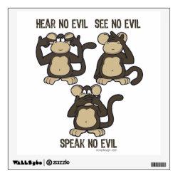 Hear No Evil Monkeys - New Wall Decal