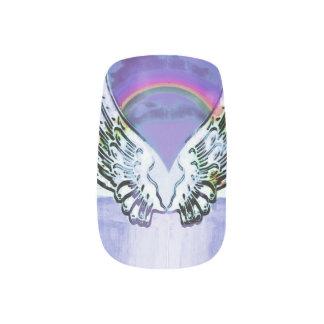 Angel Alphabet A Initial Latter Wings Halo Minx Nail Art
