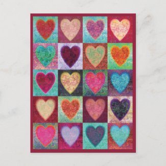 Heart Art Tiles Post Cards