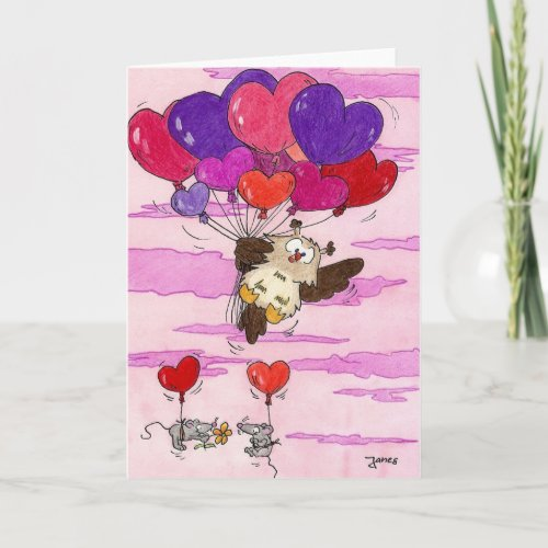 HEART BALLOONS greeting card by Nicole Janes