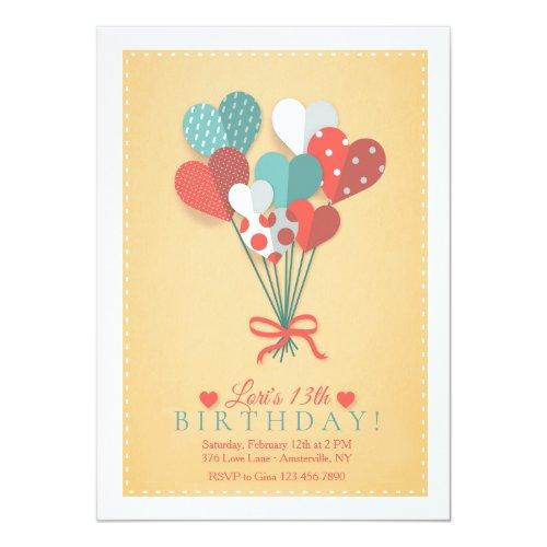 Heart Bouquet Invitation