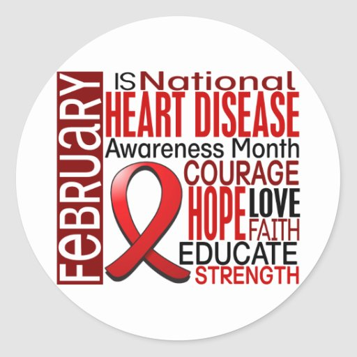 February Awareness Month Disease Heart