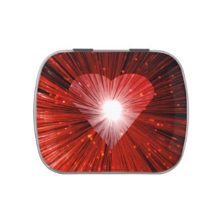 Heart Glow Red candy tin