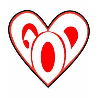 Heart God shirt