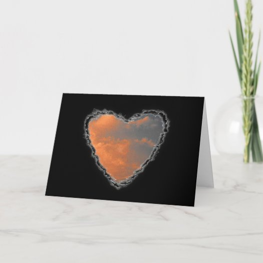 Heart in the Clouds Valentine Love cards
