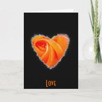 Heart is a Rose Valentine Love cards