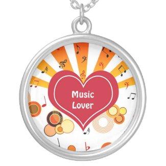 Heart musical notes custom jewelry