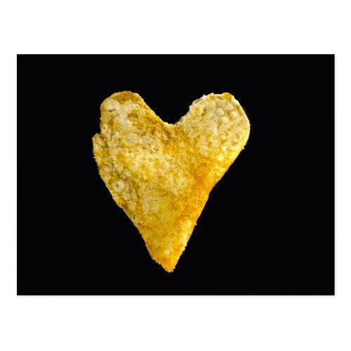 Heart Shaped Potato Chip Postcard