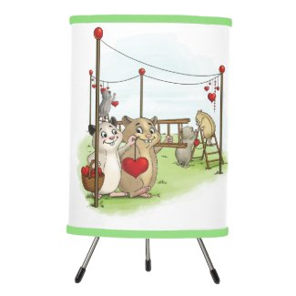 Hearts and Hamsters Lamp