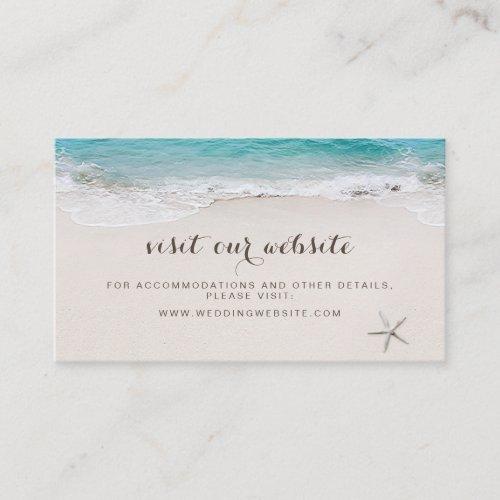 Hearts in the sand beach website Insert card