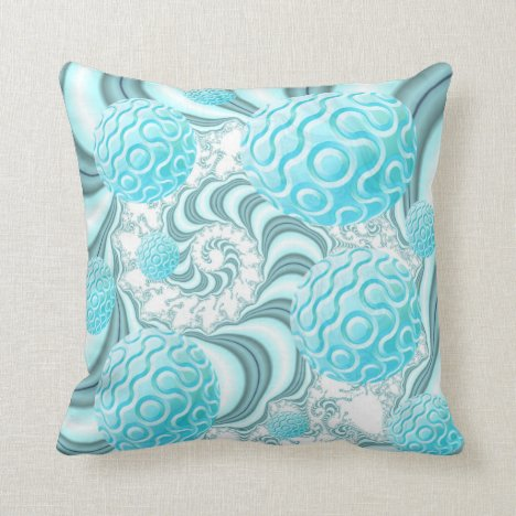 Heavenly Sea Shells, Abstract Beach in Pastel Throw Pillow