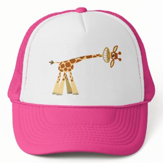 Hee Hee Hee!! cartoon giraffe Hat hat