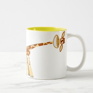 Hee Hee Hee!! Cartoon Giraffe mug mug