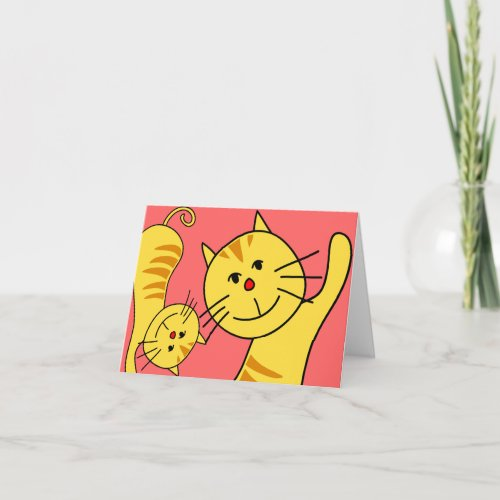 Hello Cat Blank Card
