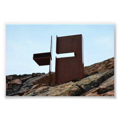 Helsinki, Finland, Rock Church Cross Photo Print