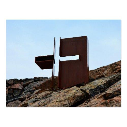 Helsinki, Finland, Rock Church Cross Postcard