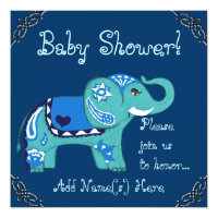 Henna Elephant (Baby Shower) Card