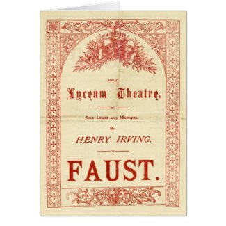 Henry Irving's Faust Greeting Card