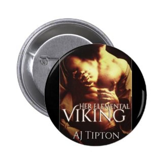 """Her Elemental Viking"" Book Cover - Circle Button"