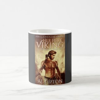 Her Fiery Viking Book Cover - Classic Mug