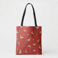 Herd of Llamas Design Tote Bag