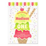 Here's the Scoop Ice Cream Birthday Invitation