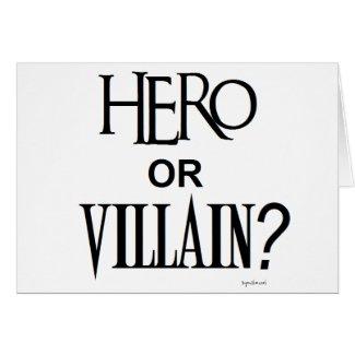 Hero or Villian Cards