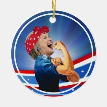 Hillary Clinton 1st Woman Presidential Nominee Ceramic Ornament