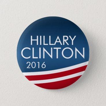 Hillary Clinton 2016 Modern Swoop Design Button