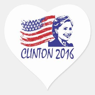 Hillary Clinton 2016 Support Items Heart Sticker